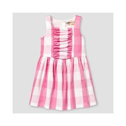 Oshkosh Girl's Buffalo Plaid Dress - Pink - Size: 12 Month