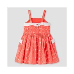 Oshkosh Girl's Scallop Neck Dress - Coral - Size: 3T