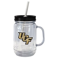 NCAA Central Florida Knights Handled Straw Tumbler, 20-ounce