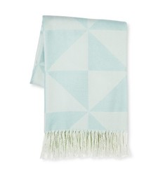 "Sabrina Soto Geo Throw - Aqua - Size: 50"" x 60"""