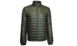 Spire by Galaxy Men's Puffer Jacket - Dark Olive - Size: Large