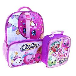 """Shopkins Backpack with Lunch Bag - Pink - Size: 16"""""""