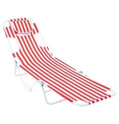 Room Essentials Read Through Lounger - Orange Stripe