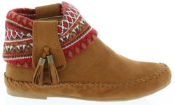 Women's Ankle High Snickers Moccasins In Tan: Size 8