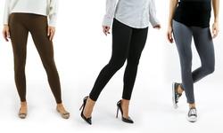 3pk Ponte Legging Gpl 2068 3pk Black Size - L/xl