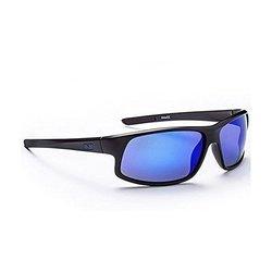 Optic Sunglasses: Avenger Matte Black Polarized Smoke With Blue Zaio
