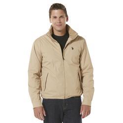 US Polo Assn Men's PVC Trucker Jacket - Black - Size: L