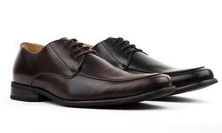 Miko Lotti Men's Moc Toe Oxford Shoes: Black/12