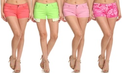 Clementine Women's Fashion Trendy Shorts - 4 Pack - Assorted - Size: 13