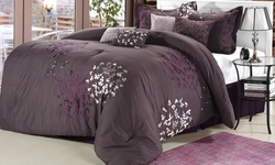 Chic Home Chatton Comforter Set - Plum - Size: King -  8-Piece