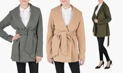 Sociology Belted Wrap Coat Gpl 2085 - Olive Green/l