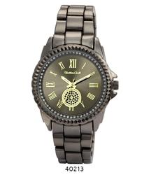 Montres Carlo Women's Gunmetal Band Wristwatch (40213)