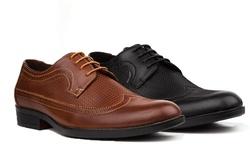 Royal Men's Long Wing Dress Shoes - Black - Size: 13
