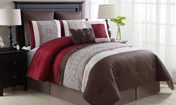 Rivoli Embroidered Comforter Set - Size: King - 8Piece