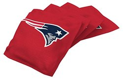 NFL New England Patriots Regulation Duckcloth Bean Bags - 4 Pack - Red