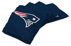 NFL New England Patriots Regulation Duckcloth Bean Bags (4 Pack), 16 oz, Blue