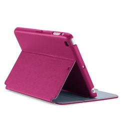 Speck Products SPK-A2440 StyleFolio iPad mini 2/iPad mini 3 Case and Stand, Fuchsia Pink/Nickel Grey