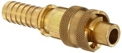"""Dixon Dix Lock Brass Quick Acting Air Hose Fitting - 1/2"""" Male Coupler"""