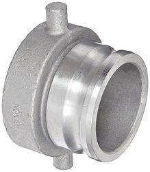 "Dixon Aluminum Cam & Groove Hose Fitting - 5"" Railroad Thread x 4"" Plug"