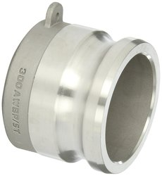 """Dixon Stainless Steel 316 Cam & Groove Hose Fitting - 3"""" Coupling"""