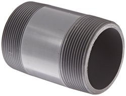 GF Piping Systems CPVC Pipe Fitting Nipple - Gray - Size: 5""