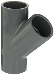 GF Piping Systems PVC Pipe Fitting - Gray - Size: 4""