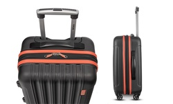 Topline 3-Piece Hardside Spinner Luggage Set - Black/Orange