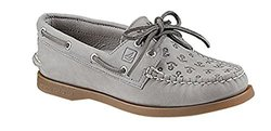 New Sperry Women's A/O Loafers Charcoal Anchors 6.5