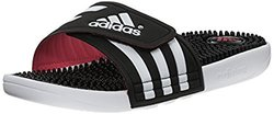 adidas Performance Women's Adissage W Sandals, Black/White/Super Pink, 4 M US
