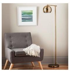 Threshold Modern Globe Floor Lamp - Brassy Gold