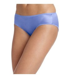 Hanes Body Women's Creations Satin Hipster 3-Pack - Blue - Size: Medium