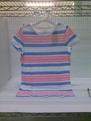Cherokee Girls Striped Scoop Neck T-Shirt - Blue - Size: XXL (18)