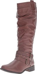 Xoxo Knee High Maeko Boots: Brown-wide Calf/8
