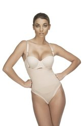 Vedette Women's Natalie Strapless Bodysuit in Thong - Nude - Size: 40