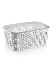 Rattan (wicker Style) 1.4 Bushel Laundry Basket (white)