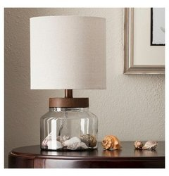Table Lamp Thrshd Clear Wood