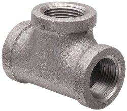 "Anvil  Malleable Iron Pipe Fitting Tee - 4"" NPT Female - Black Finish"