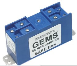 Gems Sensors 54805 20 VDC Voltage 100 mA Dual Channel Zener Barrier