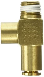 "EW 3/8"" NPT Male x 1/4"" Tube OD Brass CA360 D.O.T. Air Brake Tube Fitting"