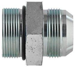 "EW M42 Metric Straight Thread M x 1-1/4"" JIC M Carbon Flare-Twin Fitting"