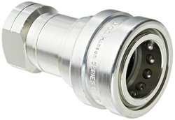 "EH 1-1/16""-12 SAE F Steel ISO-B Interchange Hydraulic Socket with Valve"