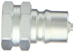 "EH 7/8""-14 SAE F Steel ISO-B Interchange Hydraulic Fitting Plug with Valve"