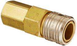 "EH 1/2""-14 NPTF F 1/2""-Port ISO-B Interchange Ball Lock Pneumatic Fitting"