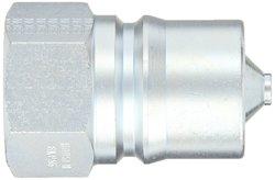 "EH 1""-11-1/2 NPTF F Steel ISO-B Interchange Hydraulic Plug with Valve"