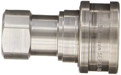 "EH 1/2""-14 NPTF F 1/2"" Body Stainless ISO-B Interchange Hydraulic Fitting"