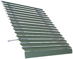 "Americana Building Products 25"" x 48"" Aluma Vue Awning - Hunter Green"