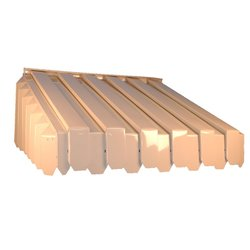 """ABP 17-1/2"""" x 43"""" x 60"""" Aluma Vent Louvered End Style Awning - Ivory"""