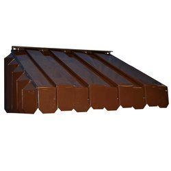 "ABP 17-1/2"" x 43"" x 65"" Aluma Vent Louvered End Style Awning - Brown"