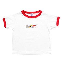 Cadillac Boys' Toddler Rabbit Skins Ringer V-Series T-Shirt - White - Sz:4