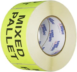 """Generic DL2481 3""""x5"""" Mixed Pallet Labels - Fluorescent Yellow"""